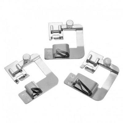 Kit 3 prensatelas de dobladillo
