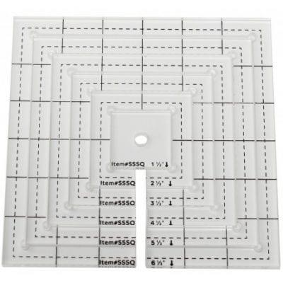 Kit 6 plantillas-reglas quilting