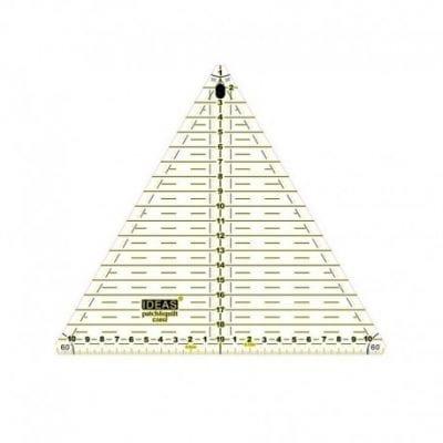 Regla triangular 20cm 60º