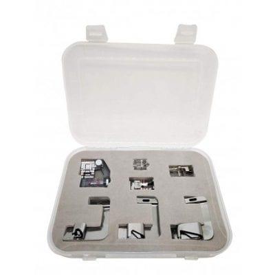 Kit de 7 prensatelas para máquinas de coser Husqvarna.