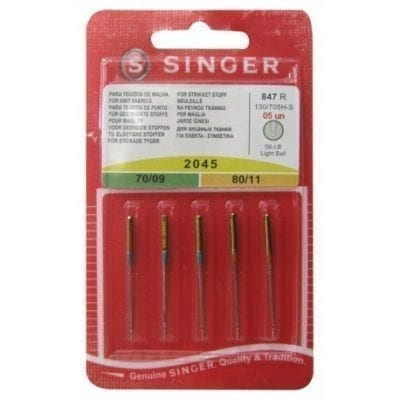 Agujas Singer 2045 70/09 80/11